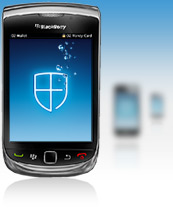 Mobile phone with shield icon