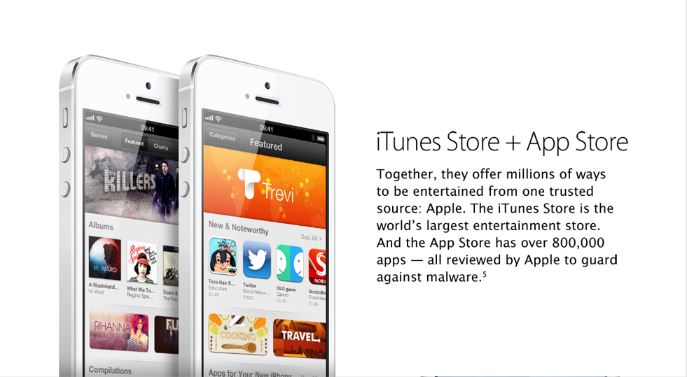 iTunes store and App store