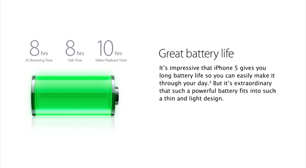 Great battery life